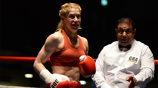 Boxer Marianne Marston has Optimax treatment