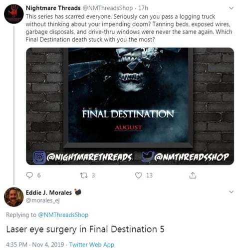 Final Destination laser eye surgery